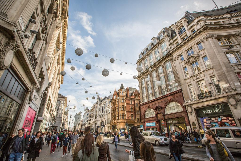 Regent Street & Oxford Street, London